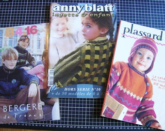Set of 3 catalogs - knitting - children's clothing