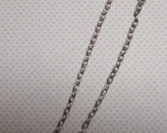 Silver Oval link chain