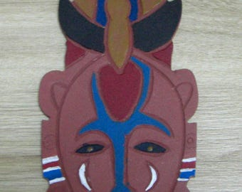 African mask hand painted by myself