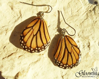 These earrings real butterfly wings