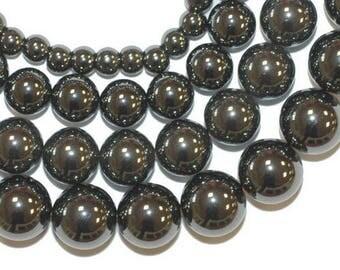 8 x 10 mm hematite round bead
