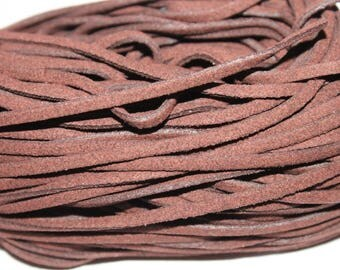 Suede cord, coffee, 1 m