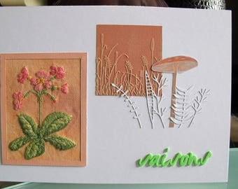 "Picture embroidered Primrose ""seasons"""