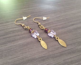 Small Purple Butterfly Earrings