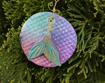 Handmade Clay Mermaid Ornament