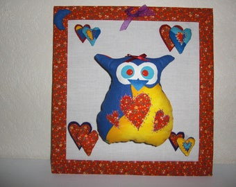 Multicolored OWL painting