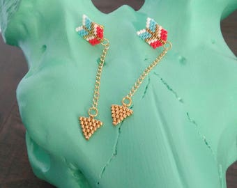 Arrow earrings beads miyuki