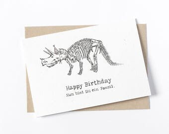 Birthday Card - dinosaur
