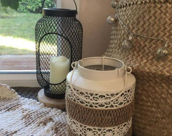 Rope/metal candle Lantern