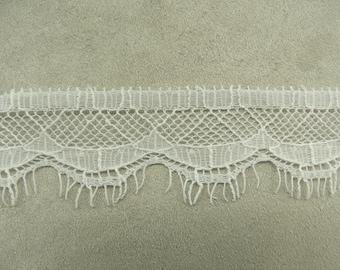 LACE of CALAIS - 3.5 cm - white
