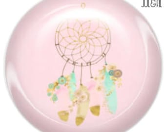 Pink 1 for creating jewelry dreamcatcher dream catcher glass cabochon