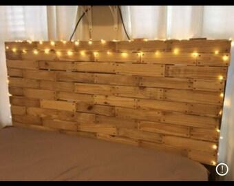 Palett Wood Sanded Queen/Full Headboard Standing