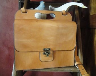 leather satchel or shoulder bag full-grain