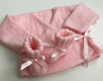 Top booties pink 3 months