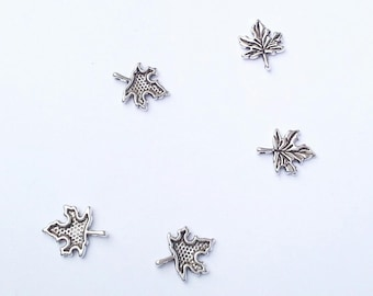 Silver Maple Leaf charms