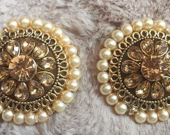Indian Earrings, Jhumka, Chandbali, Indian Studs, Gold Jhumka, Pearl Jhumki,Indian Jewelry,Bollywood Fashion, Jhumki Kundan Polki USA