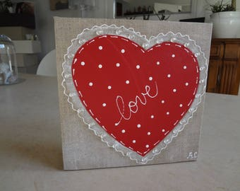 colorful hearts paintings in acrylic paint for Valentine's day
