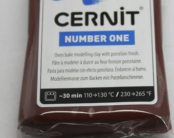 Polymer clay CERNIT Number One Color-Brown - 56 Gr