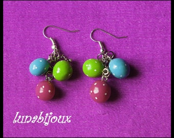 polymer clay earring small Easter egg jewelry gourmet birthday gift