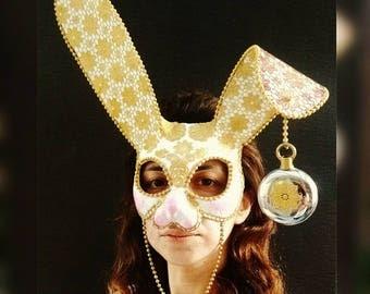Paper Mache Rabbit Mask, Animal Mask