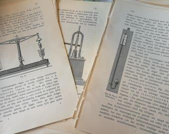 Vintage Swedish bookpages