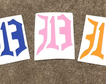 "313D 10"" High Stickers 4 colors"