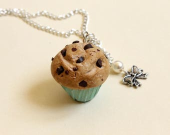 Necklace, chocolate chip, straight out of the oven muffins