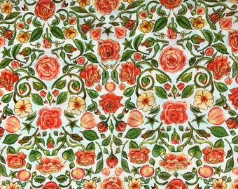 Fabric by 50cm x width of Liberty Penrose coral