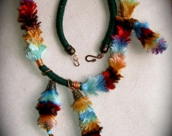 Multicolor velvet copper from Talala Tembalala necklace-