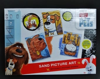 sand colored to make dog FARTS card 3 paintings