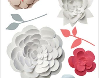 DECORATION WALL DECALS * FLOWERS TROMPE L'OEIL * 2 BOARDS ADHESIVES