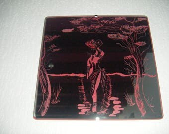 Mirror - engraving on the Silvering of mirror