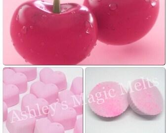 5 cherry wax melts, soy wax melts, strong wax melts, highly scented wax melts, cheap wax melts, fruity wax melts, wax tart melts