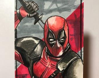 Deadpool - Artist Sketch Card