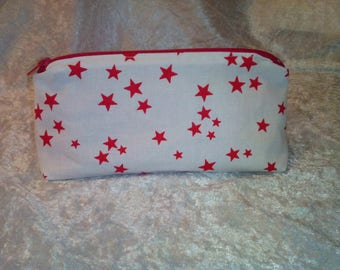 Red white pouch with stars