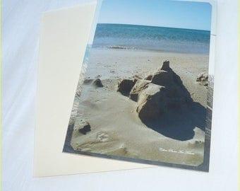 "Carte double""Mon coin de paradis"" réalisée à partir de photos de bord de mer de Céline Photos Art Nature"