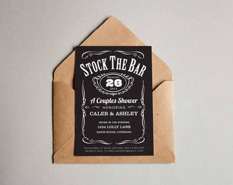 Stock the Bar - Couples Shower Invitation