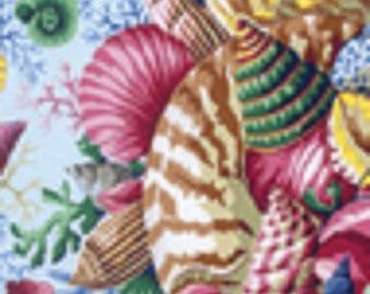 fabric patchwork Kaffee Fasset shells 088 paste