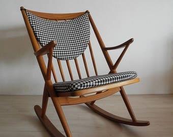 Vintage Rocking chair 1950s Danish design Frank Reenskaug for Bramin