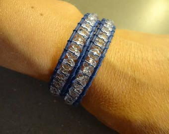 Chan Luu bracelet with blue crystals means two laps