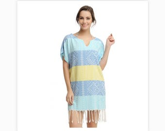 Cotton Swimsuit Cover Up Beach Dress