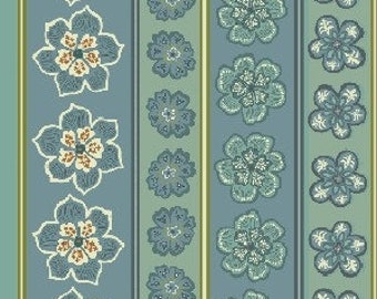 Patchwork fabric Benartex - motif on blue - Modern Mix collection - Coupon 50 by 110 cm