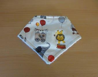 circus theme cotton bandana bib