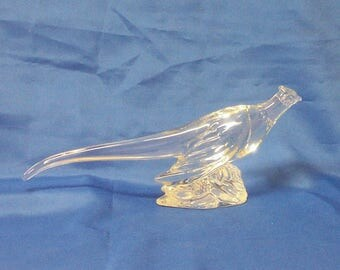 Heisey Glass - Ringneck Pheasant - Original Crystal -  - Made 1942-1953