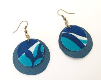 Blue and turquoise earrings