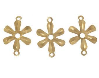 6 spacer link connectors Golden Flower gold-plated