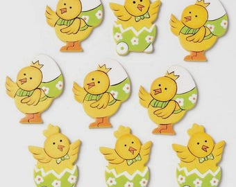 Beautiful 3D embellishment, Easter chicks, all cute 3.5 x 2.5 cm, new