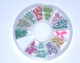 Box of 150 leaves fimo cane slices