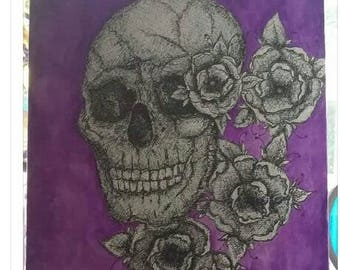 Skull canvas - purple