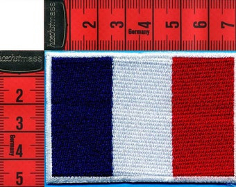 French embroidered patch iron or sew 7 x 5cm. Navy Patch applique, boats, sailing